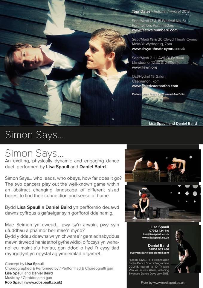 Simon Says Autumn 2013 Tour
